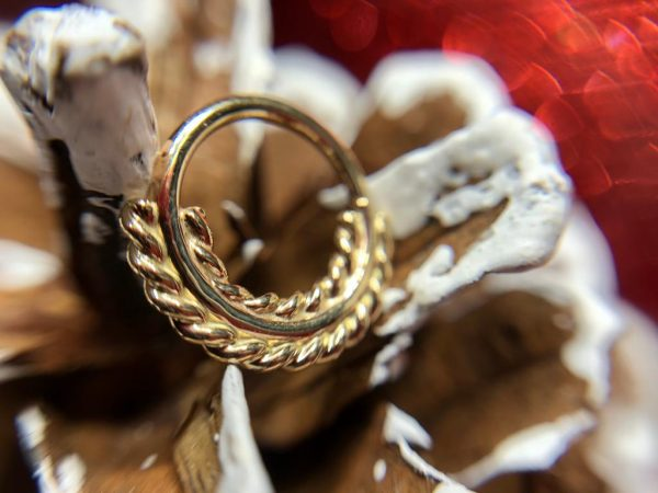 Norvoch Double sided filigree 14kt Yellow gold ring